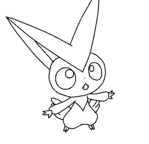 Galerry victini pokemon coloring page