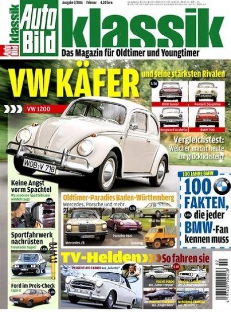 Auto Bild Klassik Abo by Auto Bild Klassik Im Abo Zeitschriften Mit Pr 228 Mien
