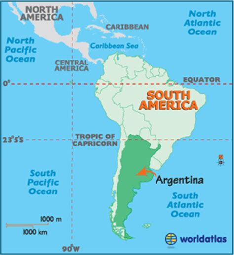 where is argentina on the world map argentina latitude longitude absolute and relative