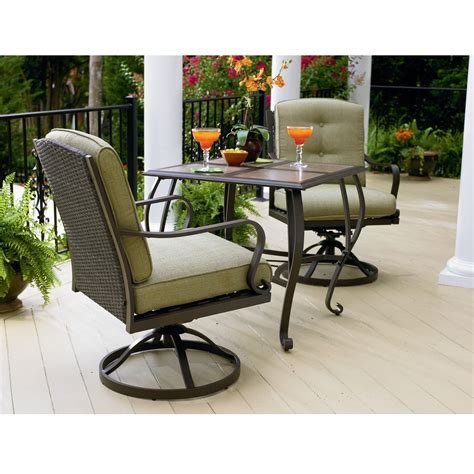 patio furniture bistro sets la z boy peyton 3 pc bistro set limited availability