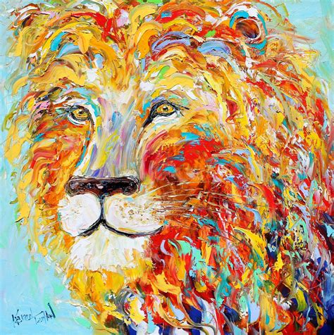 painting impressionism modern large original sale abstract impressionism animal portrait by