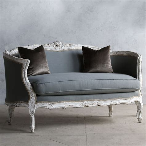 eloquence    kind vintage settee louis xv antique white atlayla grayce laylagrayce