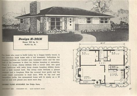 1950s house plans vintage house plans 301 antique alter ego