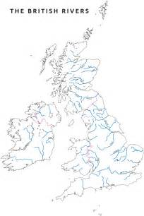 outline map of uk with rivers mapping the world by
