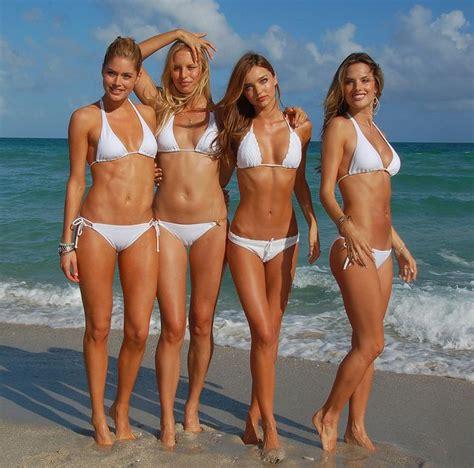 Victorias Secret Models Boogie On For Secret Garden Relaunch by Jen Carfagno Bathing Suit Doutzen Kroes On