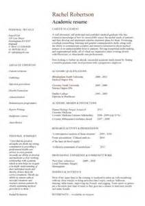 Academic Resume Templates by Academic Cv Template Curriculum Vitae Academic Cvs Student Application Cv Drive