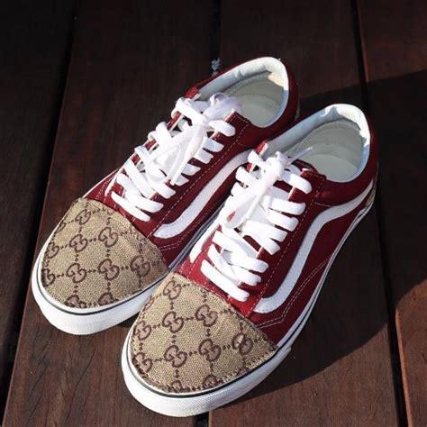 Slip On Gucci Maroon Ds vans maroon schools customs limetliss