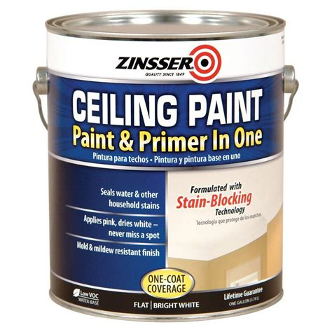 bathroom primer zinsser 1 gal ceiling paint and primer in one case of 2