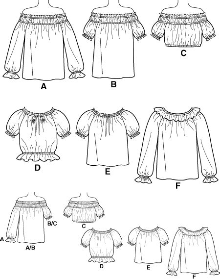 pattern review pattern sales simplicity 5962 off shoulder and peasant tops