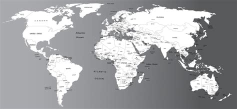 map world black and white black and white world map poster onlineshoesnike