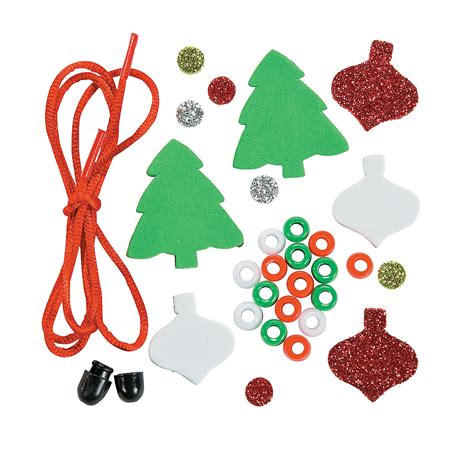 glitter christmas tree necklace craft kit oriental trading