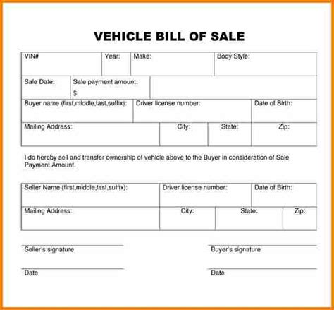 sle car bill of sale 3 simple bill of sale for car simple bill