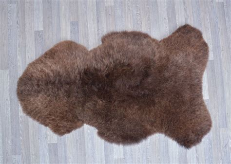 Sheepskin Rug by Chocolate Brown Sheepskin Rugs From New Zealand