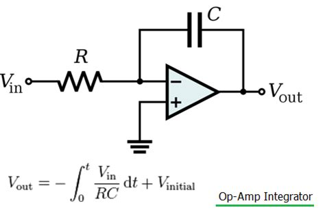 circuit of integrator lifier difference between integrator vs differentiator op