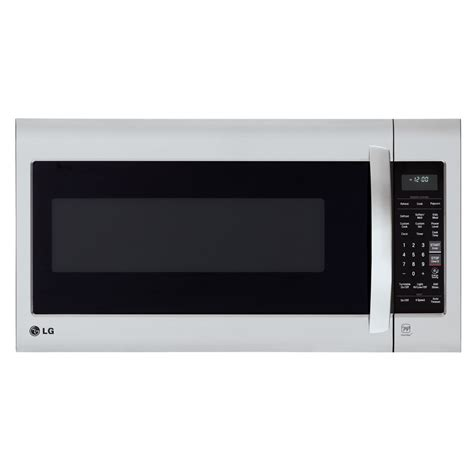 microwave store shop lg 2 cu ft over the range microwave with sensor cooking controls stainless steel common