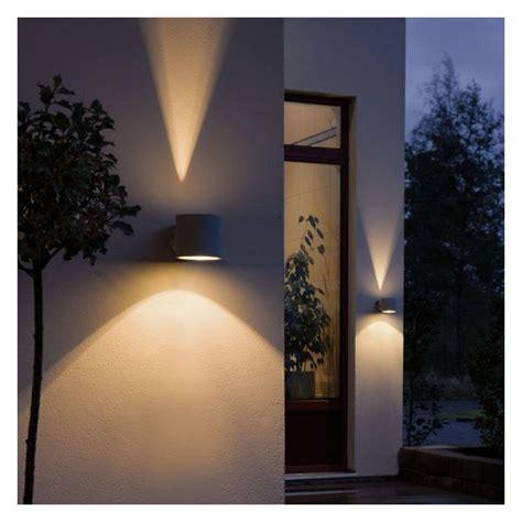 applique exterieure design duetto gris clair luminaires