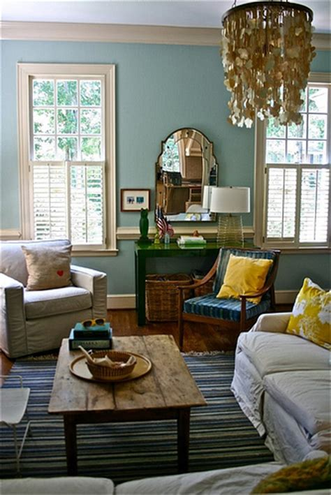 Benjamin Living Room by Blue Living Room Colorful Accents Benjamin Wythe