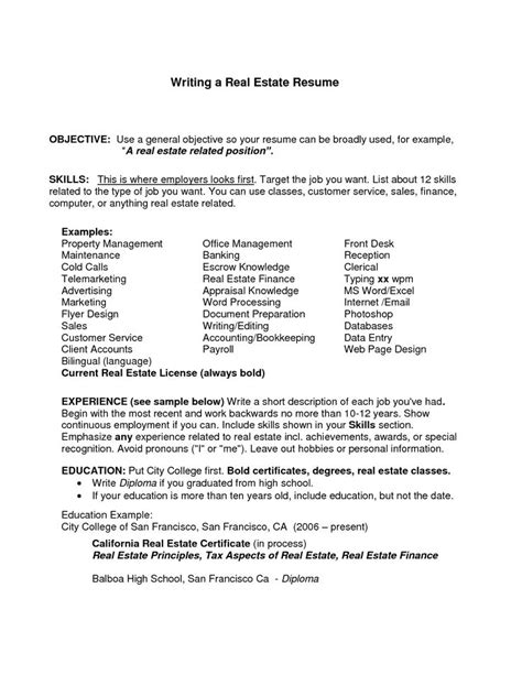 Resume Exles For General Employment General Resume Objective Exles Resume Objective