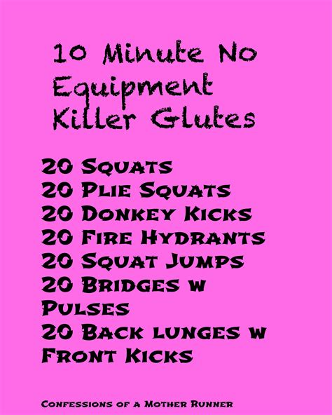 sometimes you just need a 10 minute glute workout