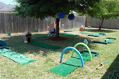 backyard mini golf i hope one of my girls likes golf just so i can throw a