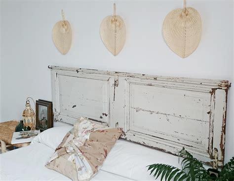 cama antigua de madera cabecero doble con puerta antigua original tienda