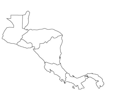 map outline of central america atlas blank map of central america and the caribbean
