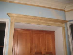 crown molding above door kitchen moldings