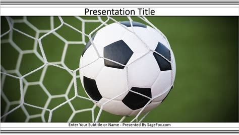 Soccer Powerpoint Template 6493 Free Soccer Powerpoint Template By Sagefox 6159 Free Themed Soccer Template