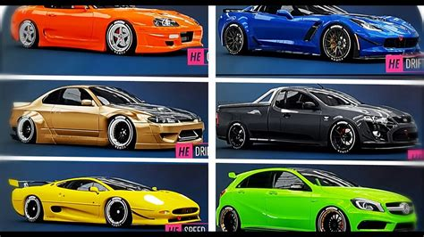 widebody cars forza horizon forza horizon 3 all 33 horizon edition cars fh3 all