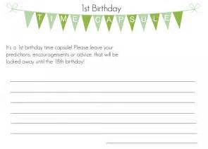 first birthday time capsule with free printable i heart
