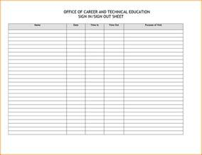 sheets templates 7 sign in sheet templatereference letters words