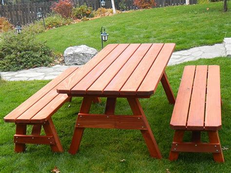 redwood picnic table build a smoker house redwood picnic table set