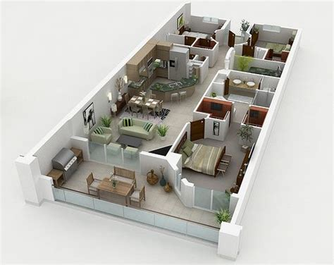 laxurious residential 3d floor plan paris sims 17 best images about 3d housing plans layouts on pinterest