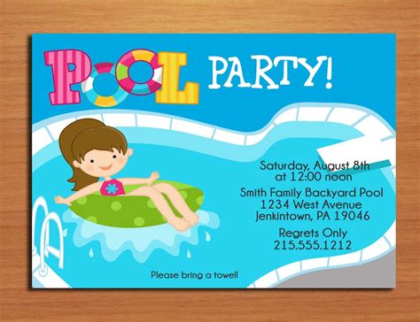 free printable pool party invite template poolparty freebie a
