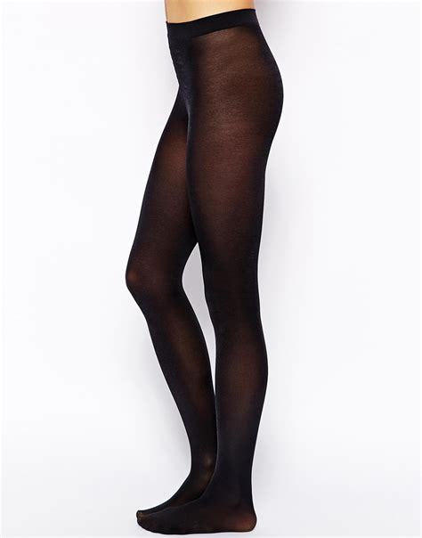 Valentino For Wolford Collection by Wolford Satin Opaque 50 Denier Tights In Black Lyst