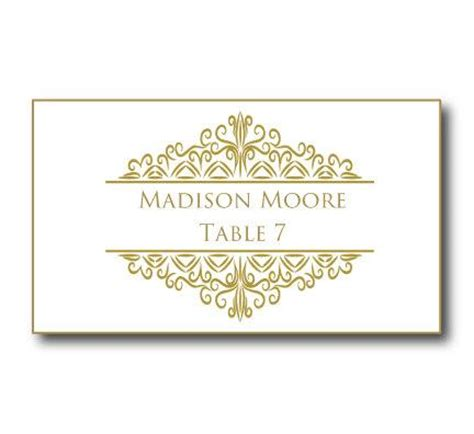 vintage name card template gold wedding place card template instant