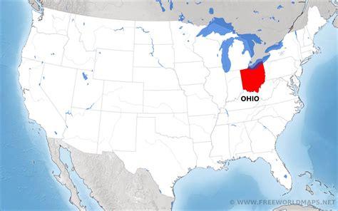 ohio located   map