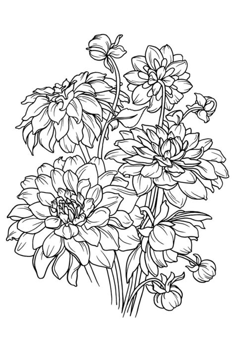 flower coloring book flower coloring books free coloring page for you