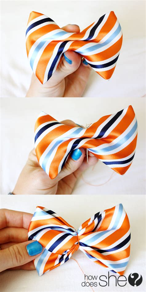 How To Make A Bow Tie Out Of Paper - diy make a bow tie from a s necktie