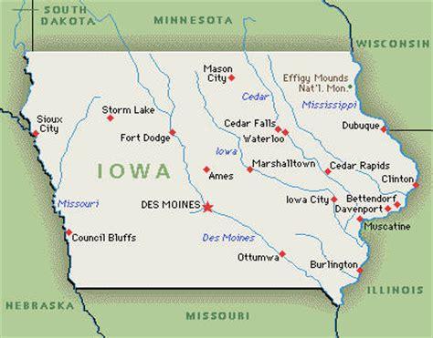 map of usa showing iowa state iowa ia djs photographers videographers