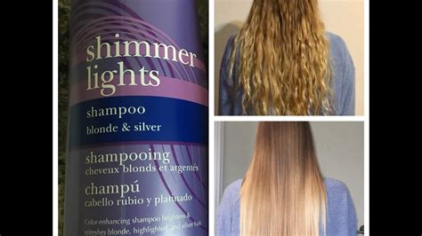 shimmer lights before and after clairol shimmer lights purple shoo before and after