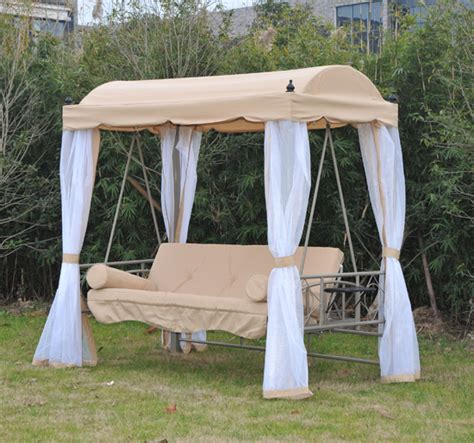 heavy duty convertible patio swing bed chair canopy