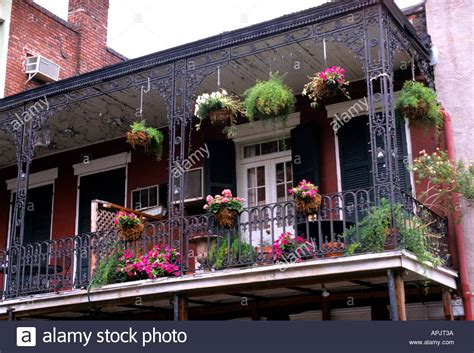 buy house in new orleans new orleans bourbon street balcony flowers house stock photo royalty free image