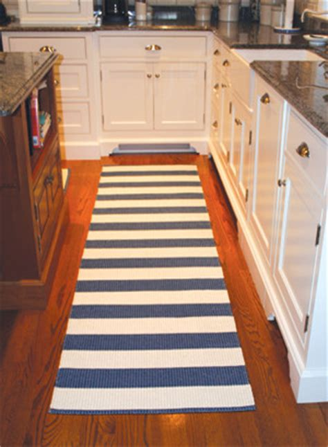 Striped Kitchen Rug Runner Darlarna Lina Navy Blue Stripe Rug Contemporary Rugs By Cottage Style Living