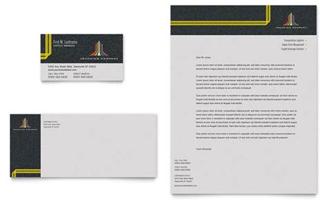 trucking company letterhead templates trucking transport business card letterhead template design