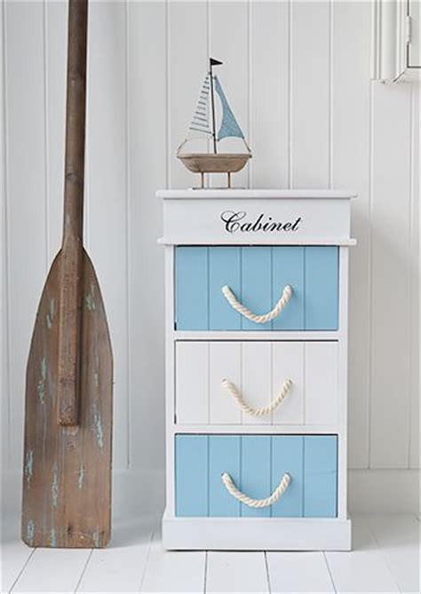Monterey Coastal Bathroom Cabinet With 3 Drawers For Nautical Bathroom Storage