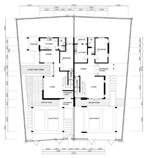 Semi Detached Floor Plans | semi detached house plans 171 floor plans
