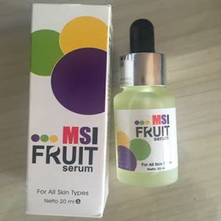 Berapa Msi Fruit Serum msi fruit serum stem cell toko kosmetik dan