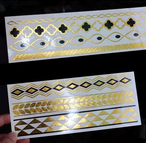 Hk Jewelry Sticker K aliexpress buy 6pcs lot 24k gold stickers jewelry accessories for arm