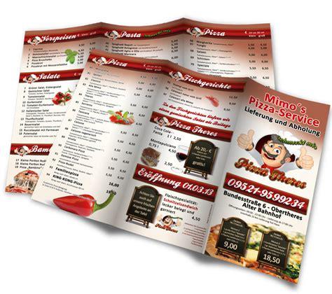 speisekarten und menuekarten gestalten